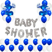 Baby Shower Party Balloon 18-Inch Five-pointed Star Heart Aluminum Film Balloon babyshower Lettered Foil Balloon(China)