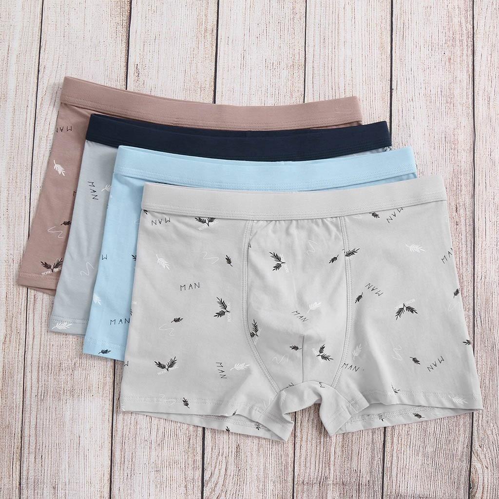 1PC Men's Letter Printed Underwear Soft Breathable Knickers Short Sexy Men Underwear Bokserki Boxer Gay Boxermen  2019 HOT SALE