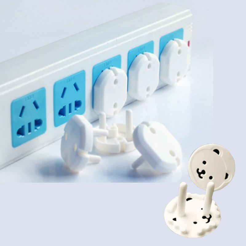 10 Pcs Plugs Protector Cover Cap Guard Protection Anti Electric Shock Mother Kids Child Safety Equipment EU Power Socket
