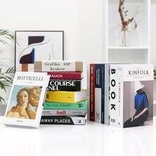 Модная поддельная книга для украшения книг простая современная