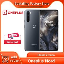 100% Originele Oneplus Nord 5G Mobilephone 6.44 Inch 90Hz Vloeistof Amoled Snapdragon 765G Octa Core 48MP Quad camera 'S