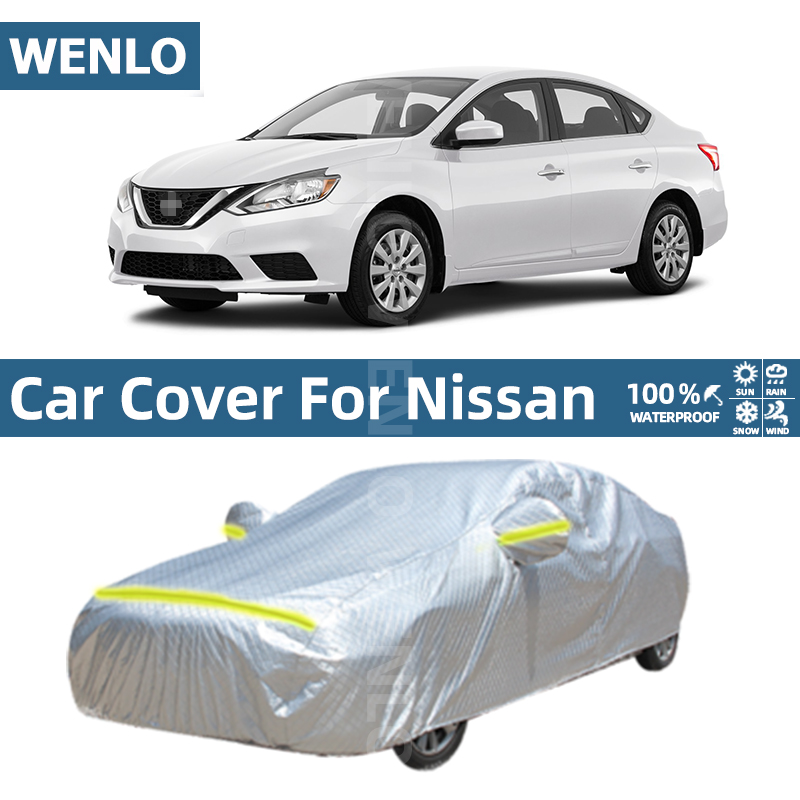 Waterproof Full Car Covers Outdoor Sun UV Dust Rain Snow Protection For Nissan Elgrand E52 Quest LIVINA X-TRAIL TIIDA Cedric
