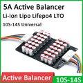 Активный Балансирующий эквалайзер 10S 12S 13S 14S 5A, литий-ионный полимер Lifepo4, LTO, искусственная передача энергии, балансирующие элементы платы