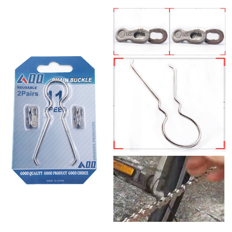 Bicycle Chain 6/8/9/10/11 Speed Magic Buckle Bicycle Chain Missing Link Chain Magic Buckle Disassembly Tools