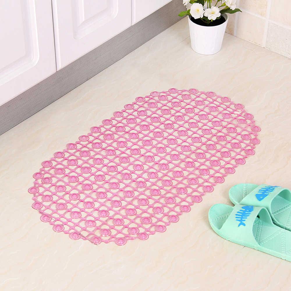 67x37 センチメートル抗スリップバスマットバスルーム PVC アンチスキッドフロアカーペット敷物吸引カップ浴室子供のための高齢者
