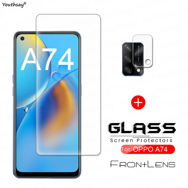Для OPPO A74 стекло закаленное стекло для OPPO A74 стекло прозрачная пленка для экрана телефона Защитная пленка для объектива камеры для OPPO A74