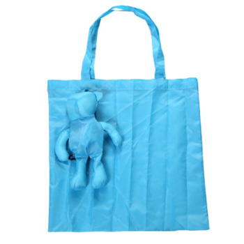 Solid Color Bear Cotton Filling Waterproof Tote Reusable Eco-Friendly Grocery Foldable Shopping Bags Fruit Vegetable Grocery Bag large shopping bag waterproof lightweight reusable grocery bags washable foldable shopping tote bags eco friendly shoulder bag