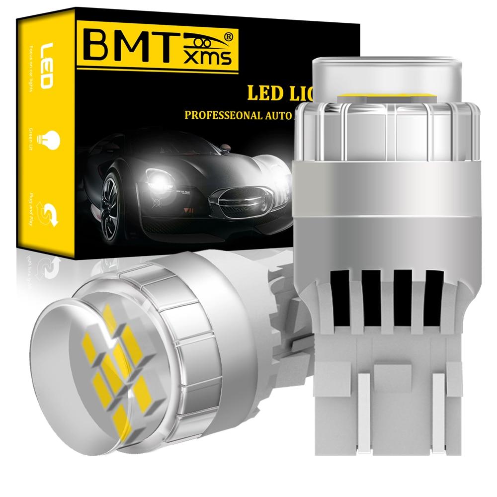 BMTxms 2x T20 W21/5W W21 5W 7443 CANBUS без ошибок белый светодиодный светильник для Fiat 500 2009-2016 DRL дневные ходовые огни супер яркие