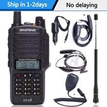 Baofeng UV XR 10W yüksek güç 4800Mah pil IP67 su geçirmez VHF UHF çift bant Walkie Talkie iki yönlü radyo