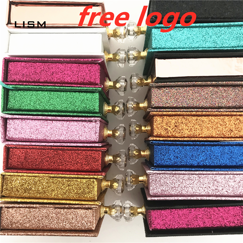 NEW Wholesale Square Lash Box Alse Eyelash Packaging Box Fake 3d Mink Lashes Boxes Faux Cils Strip Diamond Magnetic Case Empty