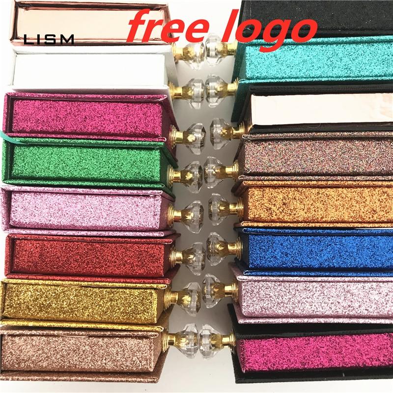 NEW Wholesale Square Lash Box Alse Eyelash Packaging Box Fake 3d Mink Lashes Boxes Faux Cils Strip Diamond Magnetic Case Empty