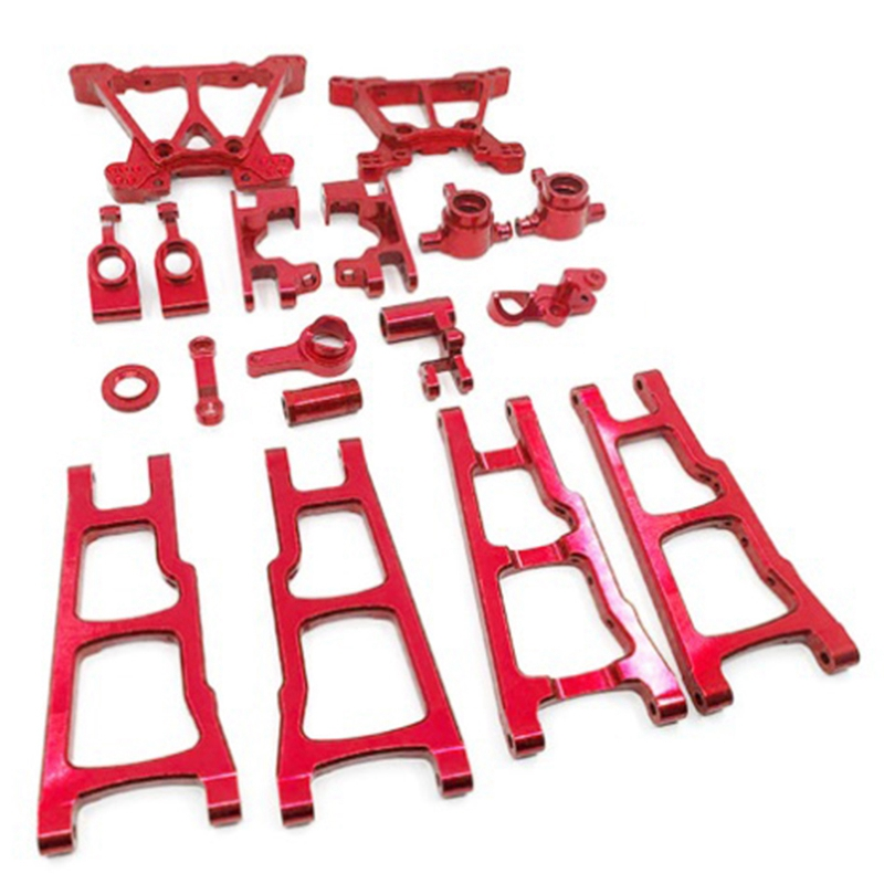1/10 RC Car Aluminum Alloy Metal Upgrade Chassis Parts Kit for TRAXXAS SLASH 4X4 Truck Car
