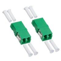 50PCS/Lot Fiber Optic LC/APC SM SC Type Duplex Flange Coupling Carrier Class Fiber Adapter Coupler for Digital Communication