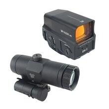 Cannocchiale da puntino rosso olografico UH-1 tattico e cannocchiale da puntamento combinato con lente d'ingrandimento 3X VMX-3T