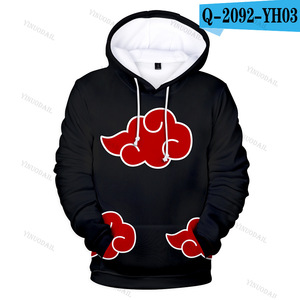 Image 3 - Naruto Hoodies Uchiha Syaringan Hooded Boys Uzumaki Naruto Pullover Men/women Cartoon Printed Clothes