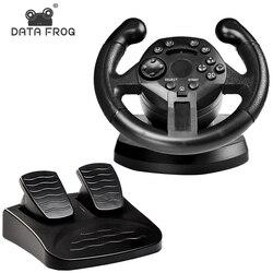 DATEN FROSCH Racing Lenkrad Für PS3 Spiel Lenkrad PC Vibration Joysticks Fernbedienung Räder Stick Für PC