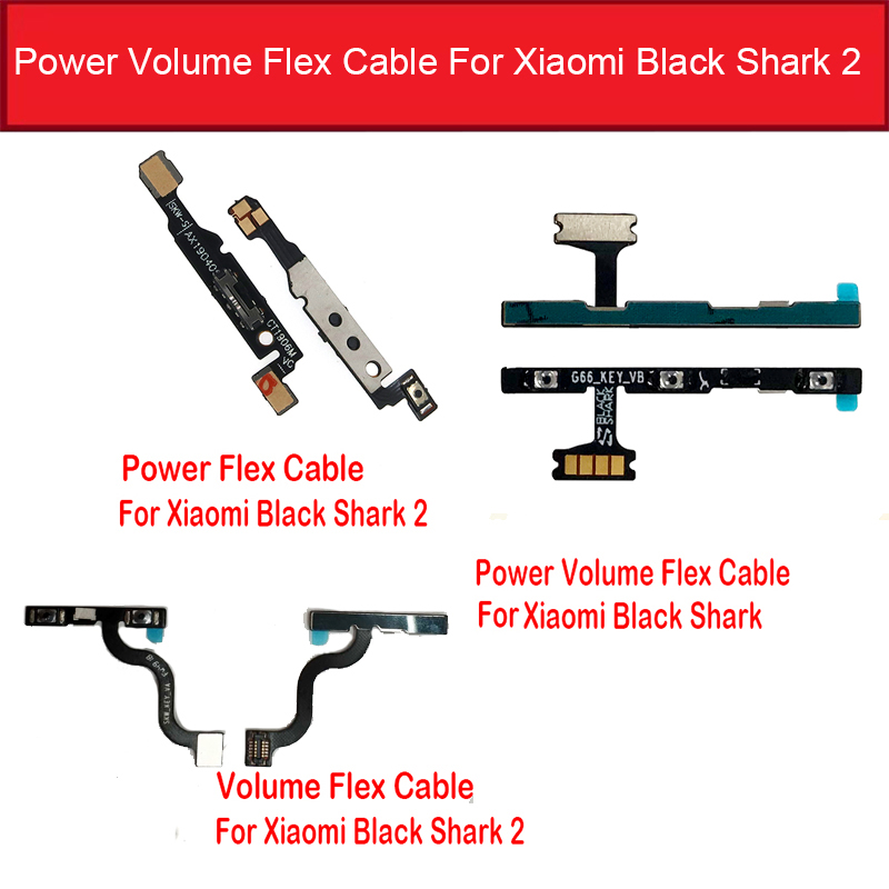 ON / OFF Power & Volume Flex Cable For Xiaomi Black Shark 2 Power Button & Volume Control Switch Side Keypad Flex Ribbon