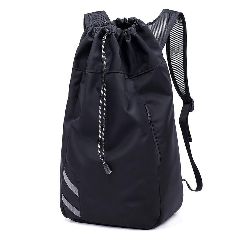 Мужской баскетбольный рюкзак SHUJIN, черный школьный рюкзак для мячей, футбольных мячей, с кулиской, для фитнеса, для занятий спортом на открытом воздухе, осень 2019-0