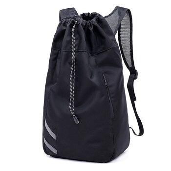 Мужской баскетбольный рюкзак SHUJIN, черный школьный рюкзак для мячей, футбольных мячей, с кулиской, для фитнеса, для занятий спортом на открытом воздухе, осень 2019