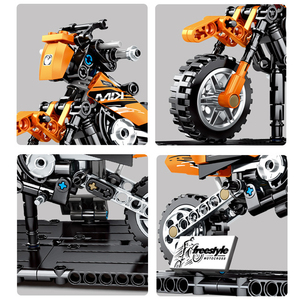 Image 4 - SEMBO 171pcs Technic Motorbike Harleyed Building Block Fit By Technic Motorcycle Car Vehicles Autobike Set for Children Boy Toys