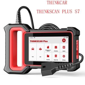 Image 1 - THINKCAR ThinkScan Plus S7 skaner samochodowy OBD2 narzędzie diagnostyczne do samochodów ABS SRS 7 systemy czytnik kodów 5 funkcja resetowania za darmo