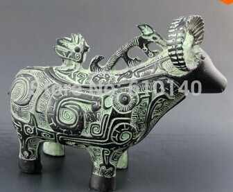 Grosir Jade Liontin Cina Patung Perunggu-Domba 0004