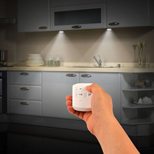 Dimmable LED Under Cabinet Light Battery Operate Remote Cont