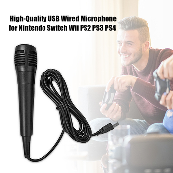 Universal USB Wired Mic Microphone Microphones USB Rechargeable Meeting for Nintendo Switch Wii U PS4 PS3 Xbox One PC