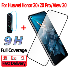 2 in 1 Screen Protector for Huawei Honor 20 Pro View Tempered Glass Camera Lens Protective