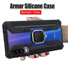 Shockproof Armor Case On For Huawei P30 Pro Honor 10 Lite 8X Mate 20X Luxury Silicone Cover P Smart 2019 Car Magnetic Ring Cases(China)