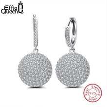 Effie queen серьги из стерлингового серебра 925 пробы круглые