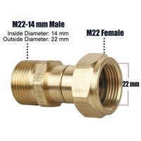 M22 14mm rosca arruela de pressão giratória junção torção conector livre mangueira montagem au