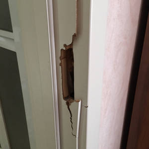 Door Frame Keyhole Repair Cream Wooden Broken Screw Hole Paint Furniture Missing Corner Wood Filling