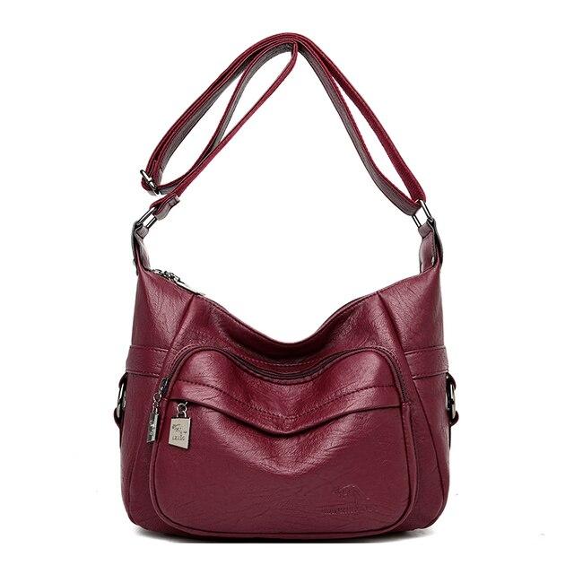 2019 حقائب كروسبودي للنساء حقيبة كتف جلدية كيس الرئيسي الصلبة السيدات حقيبة حفلة Bolsas جديد حقيبة ساعي الإناث للفتيات