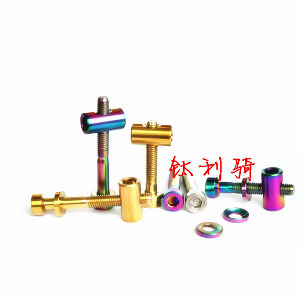 <font><b>M5</b></font> x 30mm <font><b>40mm</b></font> GR5 Titanium Alloy Screw Bolt & Washer & Barrel Nut For Bicycle Seat Post image
