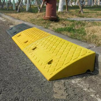 Ramp For Car Portable Lightweight Plastic Curb Ramps Heavy Duty Plastic Skid Stop Curb Edge Ramp For Wheelchair Bike Motorcycle image