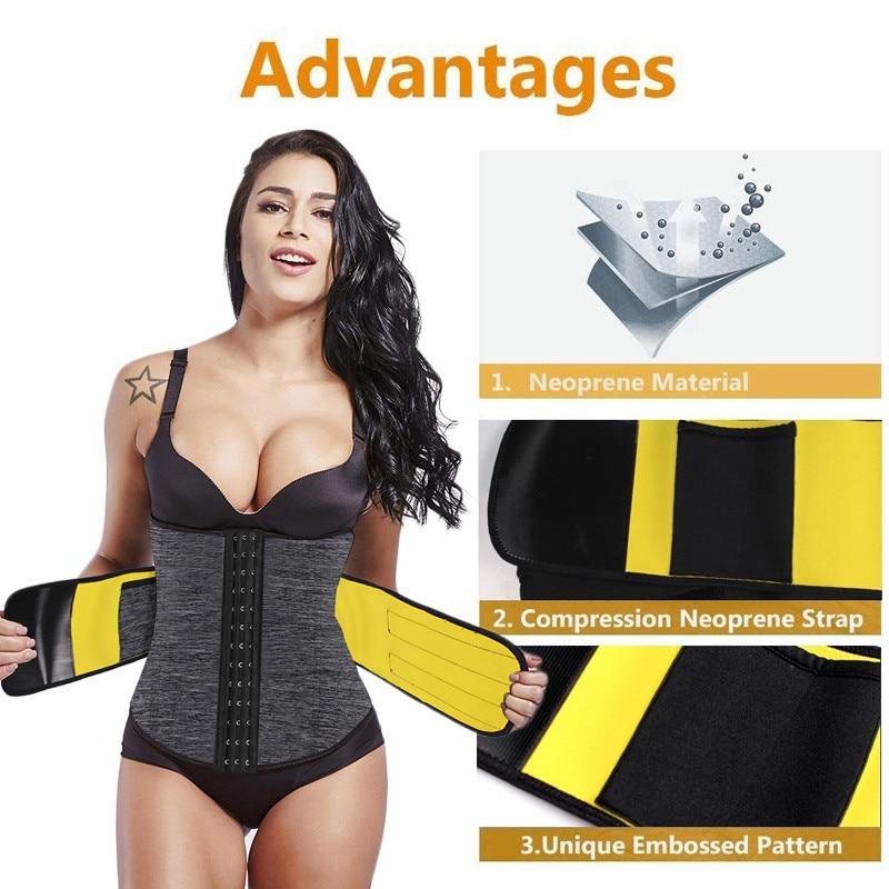 Image 4 - NINGMI S 6XL Waist Trainer Women Slim Waist Belts Tummy Body Shaper Corset Slimming Underwear Neoprene Shapewear Strap Plus Size-in Waist Cinchers from Underwear & Sleepwears