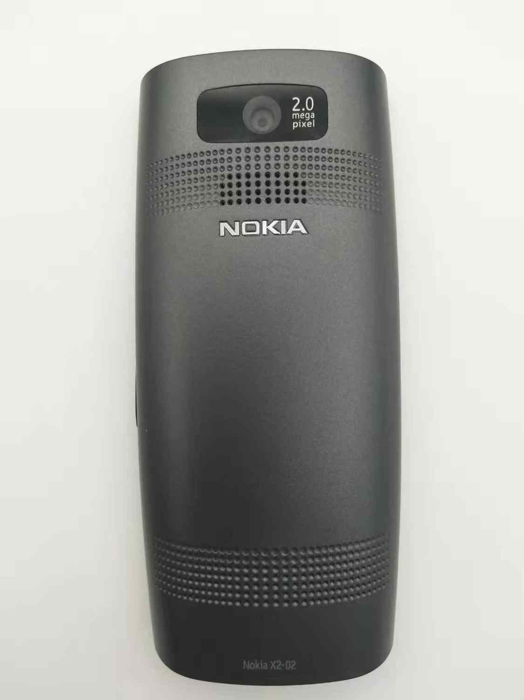 מקורי סמארטפון נוקיה X2-02 ליבה אחת Symbian OS Bluetooth רדיו FM Dual SIM 1020mAh שחור ואדום משופץ משלוח חינם