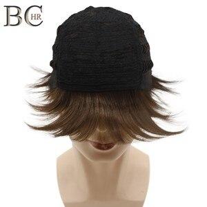 Image 2 - BCHR Breve Rettilineo Uomini Sintetici Parrucca per il Maschio Parrucche di capelli Naturali di Colore Marrone di Trasporto libero PARRUCCHE Toupet