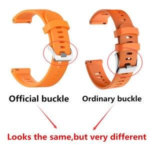 Image 5 - Voor Garmin 245 Riem Officiële Knop Siliconen Horloge Band Sport Riem Voor Forerunner 245M/645/Vivoactive3/vivomove Hr Armband