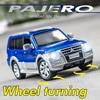 1:32 MITSUBISHII PAJERO Alloy Car Die Cast Suv Model Wheel Turn Edition Collectibles Cars Toy Birthday Present Boy