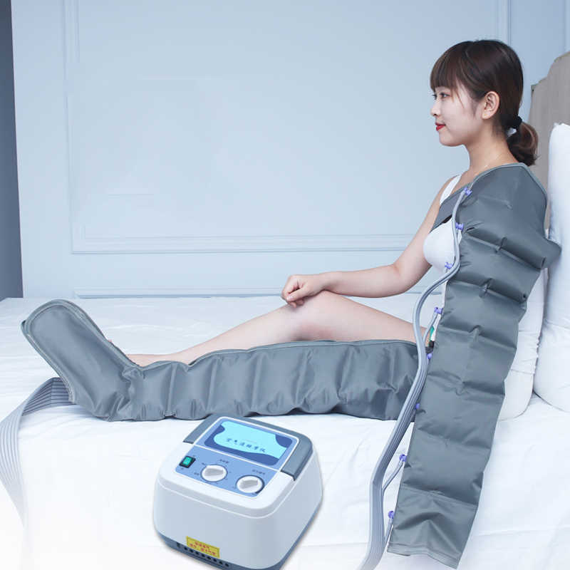 Elektrische Pressotherapie Luft Kompression Bein Fuß Massager Vibration Infrarot Therapie Arm Taille Pneumatische Air Welle Druck Machin