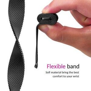 Image 5 - Meilleur Bracelet de boucle milanais pour Asus Zenwatch 3 Bracelet de remplacement daspiration magnétique accessoires de Bracelet de montre noir/argent/or