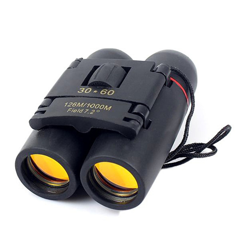 Sakura Zoom Telescope 30x60 Folding Binoculars with Low Light Night Vision for Outdoor Bird Concert Watching Camping Hunting