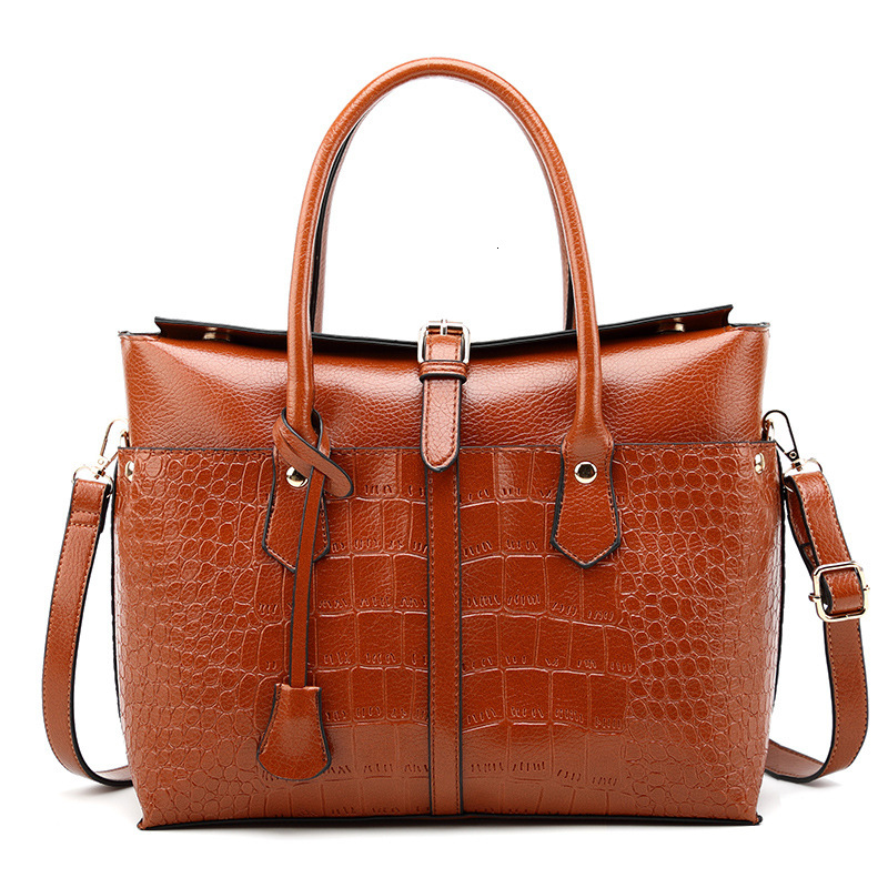 2019 New Briefcase Women's Bag Fashion Crocodile Handbag Fashion Single Shoulder Crossbody Bag For Ladies Large Capacity