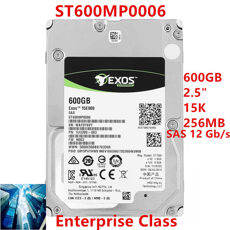 """New HDD For Seagate Brand 600GB 2.5"""" 15K SAS 12 Gb/s 256MB For Internal HDD For Enterprise Class HDD For ST600MP0006 1"""