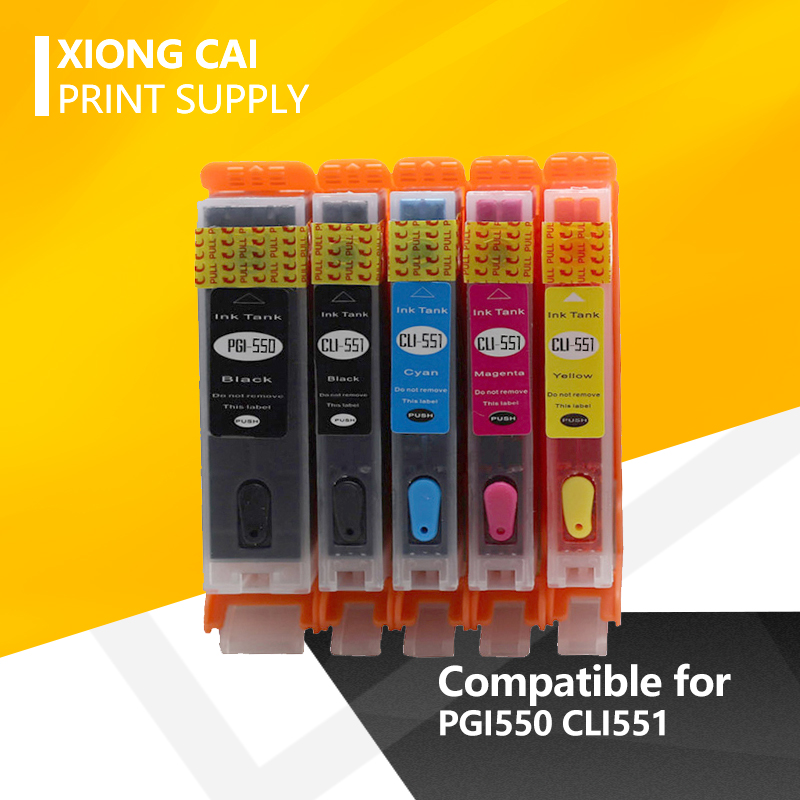 10 шт. PGI 550 CLI 551 полный перезаправляемый картридж для hp Canon IP7250 MG5450 MX925 MG5550 MG6450 MG5650 MG6650 pgi-550 cli-551