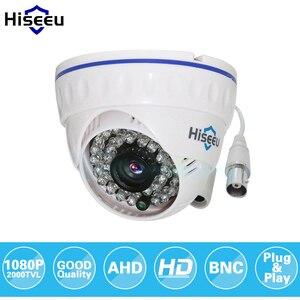 Image 1 - Hiseeu AHDH 1080P aile Mini Dome güvenlik Analog güvenlik kamerası kapalı IR CUT gece görüş tak ve çalıştır ücretsiz kargo AHCR512