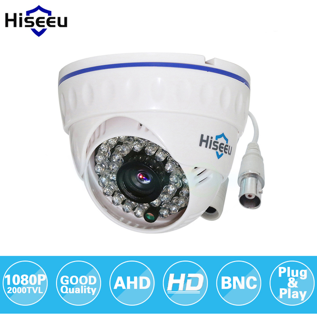 Hiseeu AHDH 1080P aile Mini Dome güvenlik Analog güvenlik kamerası kapalı IR CUT gece görüş tak ve çalıştır ücretsiz kargo AHCR512