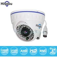 Hiseeu AHDH 1080P الأسرة قبة صغيرة الأمن التناظرية كاميرا تلفزيونات الدوائر المغلقة داخلي IR قص للرؤية الليلية التوصيل والتشغيل freeshipping AHCR512